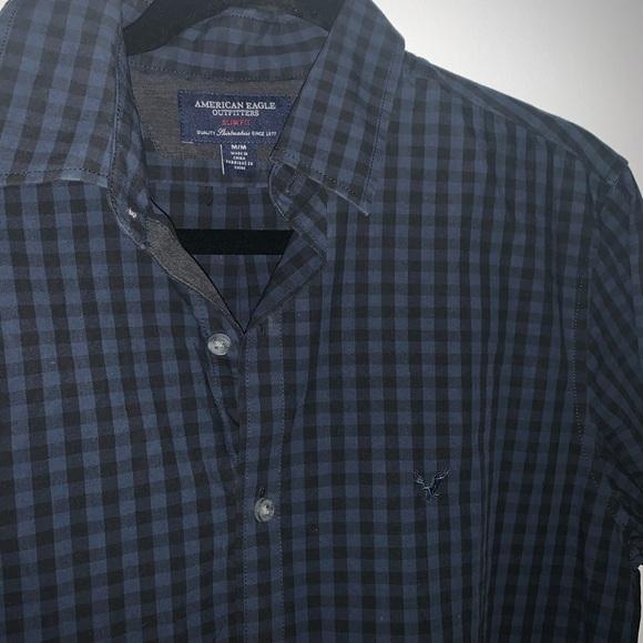 American eagle cotton plaid size M button down